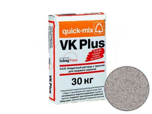 Цветной кладочный раствор quick-mix VK plus T для кирпича, стально-серый