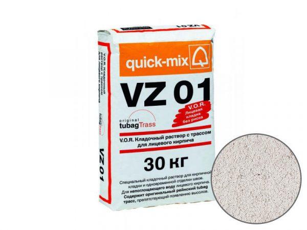 Цветной кладочный раствор quick-mix VZ01 A для кирпича, алебастрово-белый