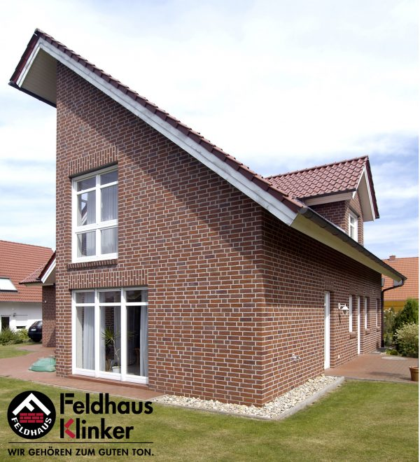 Клинкерные термопанели Feldhaus Klinker R335 carmesi antic mana