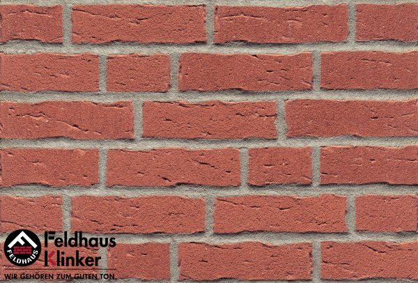 Клинкерные термопанели Feldhaus Klinker R694 sintra carmesi
