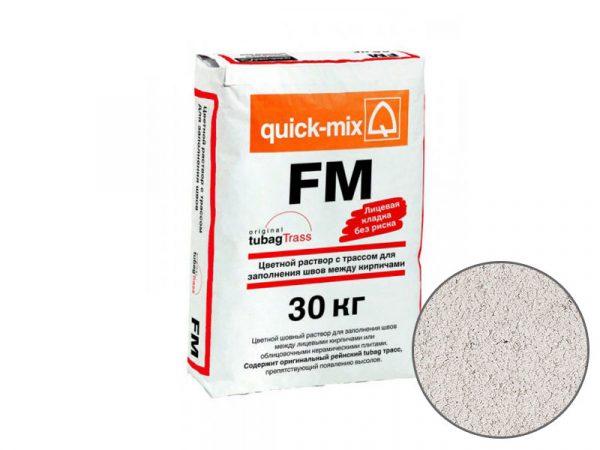 Цветная затирка для заполнения швов на фасаде quick-mix FM A, алебастрово-белый