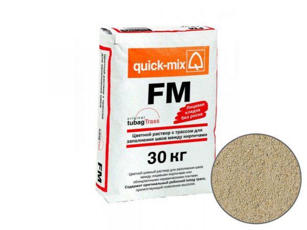 Цветная затирка для заполнения швов на фасаде quick-mix FM B, светло-бежевый