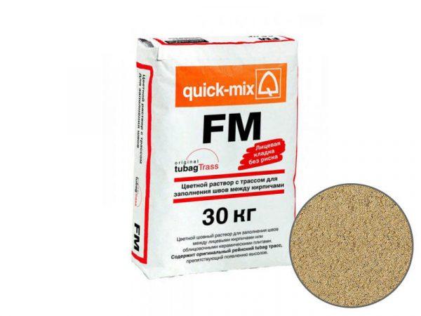 Цветная затирка для заполнения швов на фасаде quick-mix FM I, песочно-жёлтый