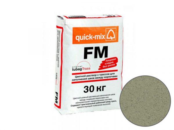 Цветная затирка для заполнения швов на фасаде quick-mix FM U, горошково-зелёный