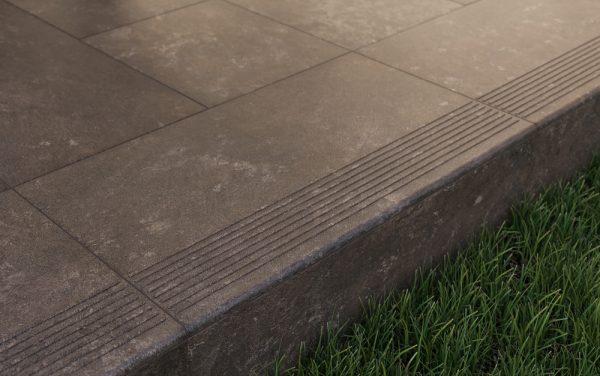 Угловая клинкерная ступень с капиносом Paradyz Ilario Brown, 330*330*11 мм