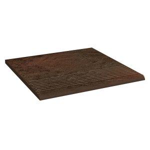 Фронтальная клинкерная ступень простая Paradyz Semir Brown, 300*300*11 мм