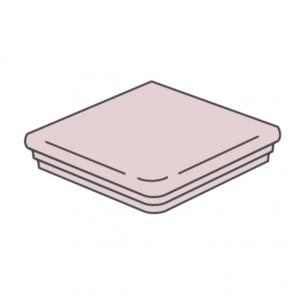 Клинкерная угловая ступень флорентинер ABC Trend Rugen-weiss, 345*345*10 мм