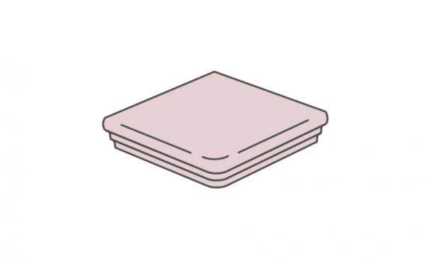 Клинкерная угловая ступень флорентинер ABC Mittelalterliche Cremasand, 335*335*10 мм