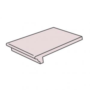 Клинкерная ступень флорентинер ABC Granit Rot, 335*310*10 мм