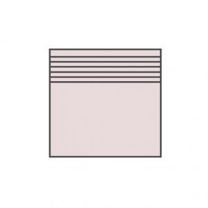 Клинкерная ступень плоская с насечками ABC Trend Rugen-weiss, 300*310*8 мм