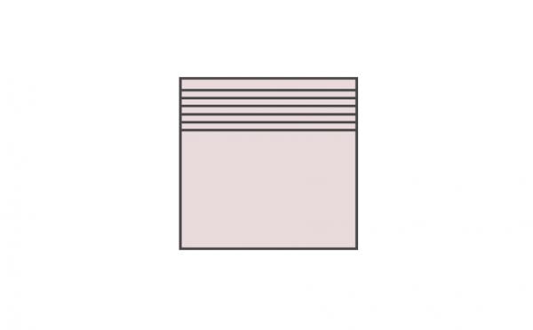 Клинкерная ступень плоская ABC Granit Rot, 300*310*8 мм