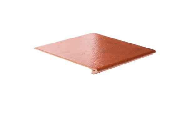 Клинкерная ступень флорентинер ABC Granit Rot, 335*240*10 мм