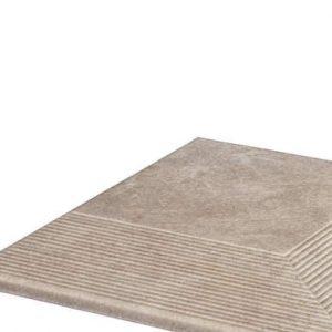 Угловая клинкерная ступень простая Paradyz Viano Beige, 300*300*11 мм