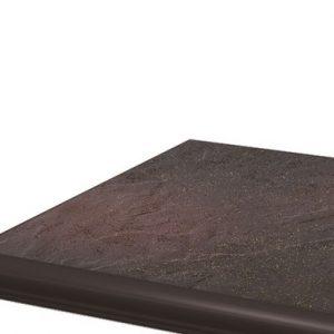 Угловая клинкерная ступень с капиносом Paradyz Semir Rosa, 330*330*11 мм