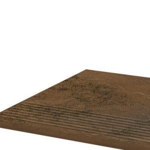 Угловая клинкерная ступень простая Paradyz Semir Beige, 300*300*11 мм