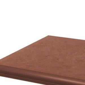 Угловая клинкерная ступень с капиносом Paradyz Cotto Naturale, 330*330*11 мм
