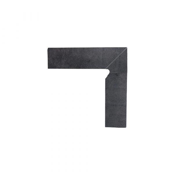 Цоколь гладкий правый/левый Paradyz Bazalto Grafit, 300*81*11 мм