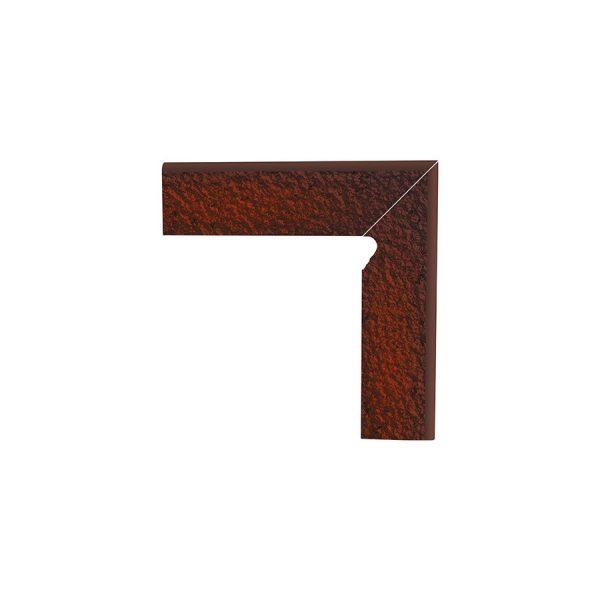 Цоколь структурный правый Paradyz Cloud Brown Duro, 300*81*11 мм