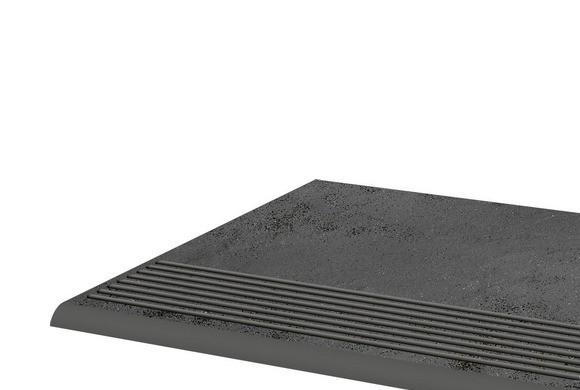 Фронтальная клинкерная ступень простая Paradyz Semir Grafit, 300*300*11 мм