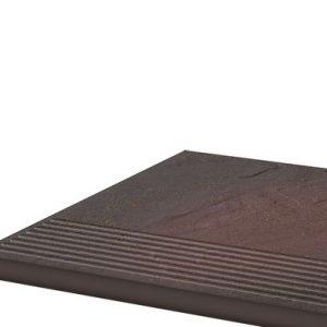 Фронтальная клинкерная ступень простая Paradyz Semir Rosa, 300*300*11 мм