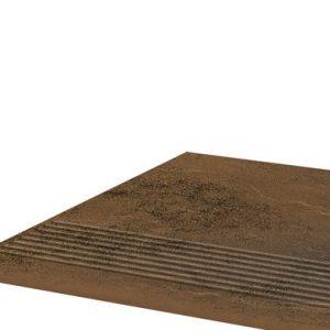 Фронтальная клинкерная ступень простая Paradyz Semir Beige, 300*300*11 мм