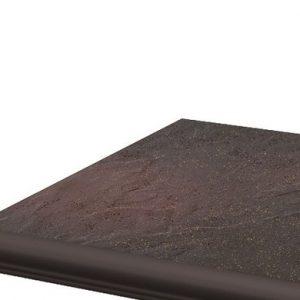 Фронтальная клинкерная ступень с капиносом Paradyz Semir Rosa, 330*299*11 мм