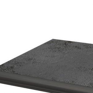 Угловая клинкерная ступень с капиносом Paradyz Semir Grafit, 330*330*11 мм