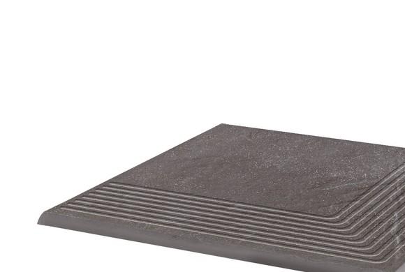 Угловая клинкерная ступень простая Paradyz Taurus Grys, 300*300*11 мм