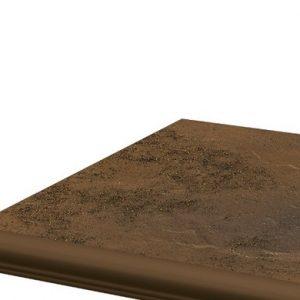 Фронтальная клинкерная ступень с капиносом Paradyz Semir Beige, 330*299*11 мм