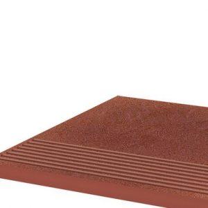 Фронтальная клинкерная ступень простая Paradyz Taurus Rosa, 300*300*11 мм