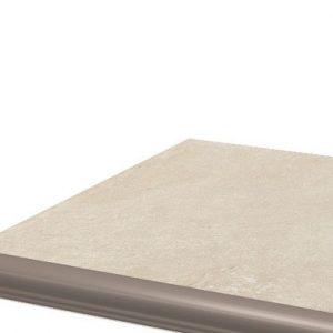 Угловая клинкерная ступень с капиносом Paradyz Cotto Crema, 330*330*11 мм