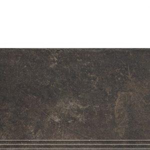 Фронтальная клинкерная ступень простая Paradyz Scandiano Brown, 300*600*11 мм