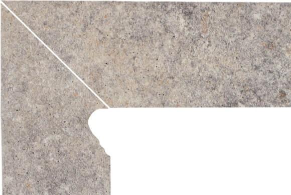 Цоколь структурный правый/левый Paradyz Viano Grys, 300*81*11 мм