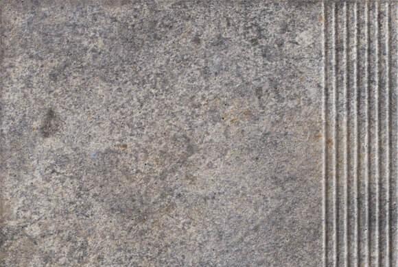 Угловая клинкерная ступень простая Paradyz Viano Grys, 300*300*11 мм