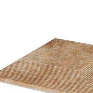 Угловая клинкерная ступень простая Paradyz Ilario Ochra, 300*300*11 мм