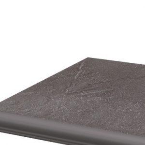 Фронтальная клинкерная ступень с капиносом Paradyz Taurus Grys, 330*299*11 мм