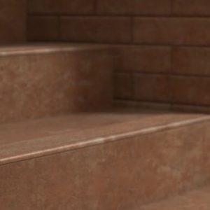 Угловая клинкерная ступень с капиносом Paradyz Ilario Ochra, 330*330*11 мм