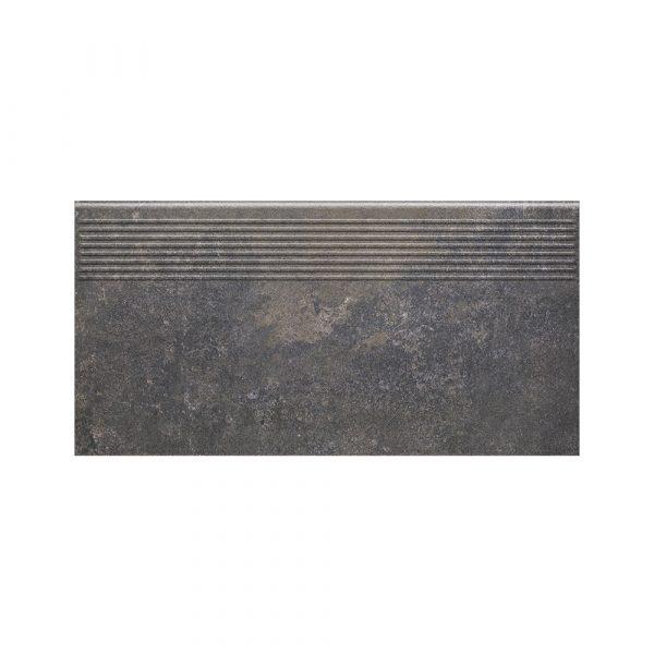 Фронтальная клинкерная ступень простая Paradyz Viano Antracite, 300*600*11 мм