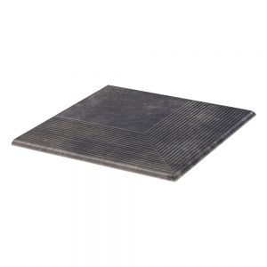 Угловая клинкерная ступень простая Paradyz Viano Antracite, 300*300*11 мм