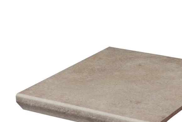 Фронтальная клинкерная ступень с капиносом Paradyz Viano Beige, 330*299*11 мм