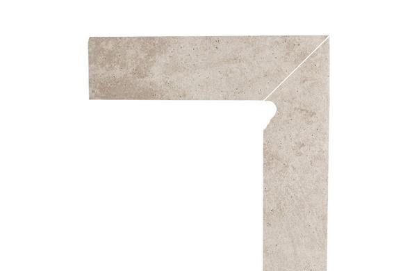 Цоколь структурный правый/левый Paradyz Viano Beige, 300*81*11 мм