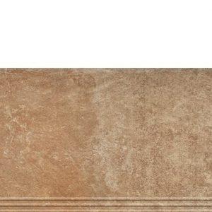Фронтальная клинкерная ступень простая Paradyz Scandiano Rosso, 300*600*11 мм