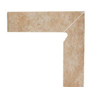 Цоколь структурный правый/левый Paradyz Ilario Beige, 300*81*11 мм