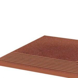 Угловая клинкерная ступень простая Paradyz Taurus Rosa, 300*300*11 мм