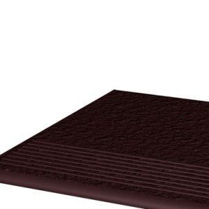 Фронтальная клинкерная ступень простая Paradyz Natural Brown Duro, 300х300х11 мм