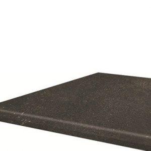 Угловая клинкерная ступень с капиносом Paradyz Scandiano Brown, 330*330*11 мм