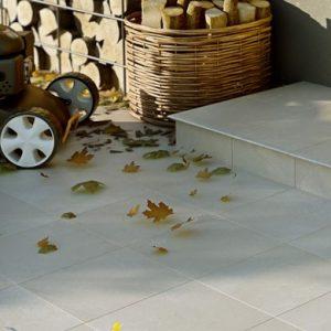 Фронтальная клинкерная ступень простая Paradyz Cotto Crema, 300*300*11 мм