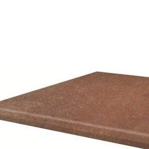 Угловая клинкерная ступень с капиносом Paradyz Scandiano Rosso, 330*330*11 мм