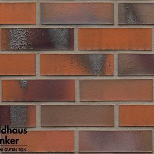 Клинкерные термопанели Feldhaus Klinker R562 carbona terreno bluastro