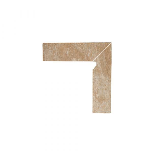 Цоколь структурный правый Paradyz Ilario Beige, 300*81*11 мм
